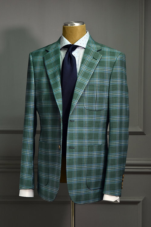 Forest Green Tartan Plaid Suit