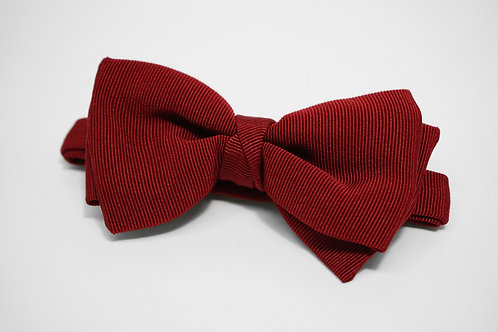 Wine Red Double Fold Bow Tie
