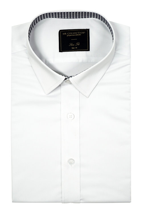 Tipping Cuff White Elastic Shirt RH01