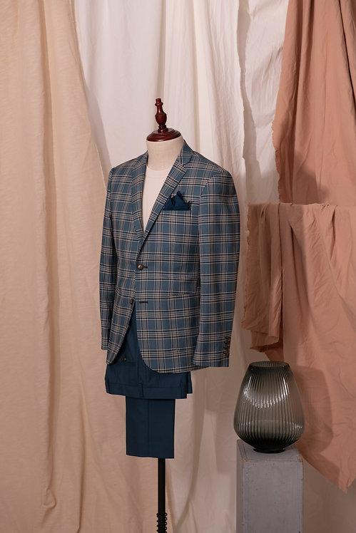 Spruce Tartan Jacket & Navy Trousers