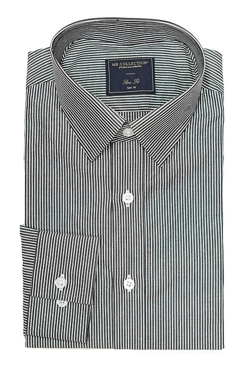 Gray&White Pin-stripe Shirt TH03