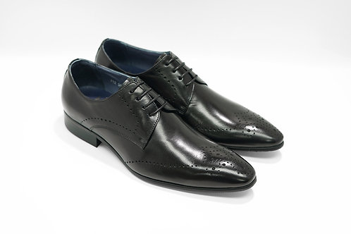 Black Calf Leather Brogue Derby J12