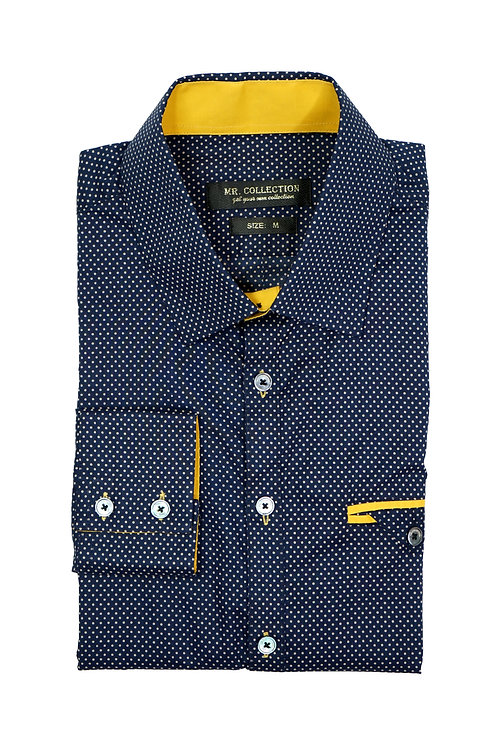 Navy Polkadot Shirt