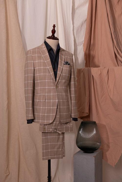 Apricot Windowpane Suit