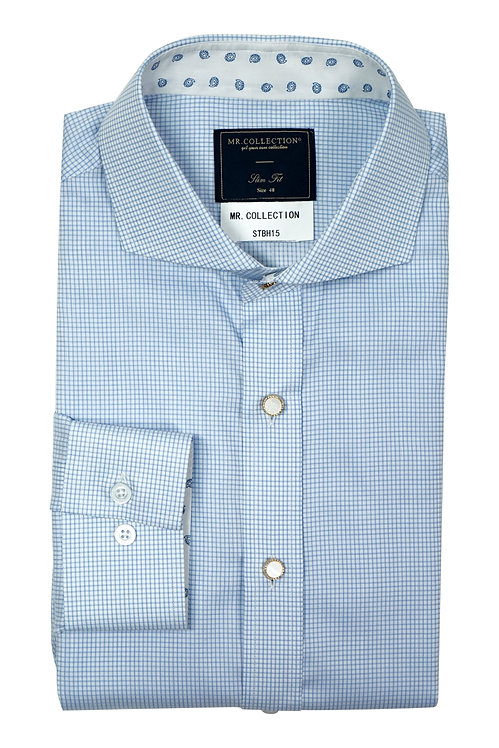 MTO Blue Gingham Check Shirt
