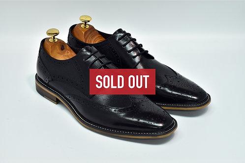 Black Calf Leather Brogue Derby