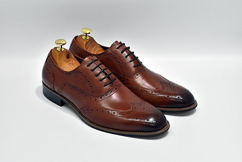 Brown Calf Leather Brogue Oxford R03
