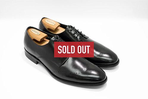 Black Calf Leather Plain-toe Derby N01