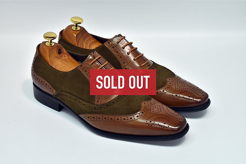 Brown & Coffee Mix Leather Brogue Oxford