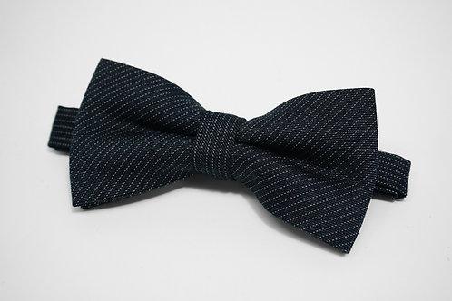 Dark Grey Dot Stripe Bow Tie