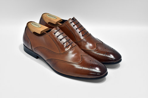 Brown Calf Leather Brogue Oxford L0913