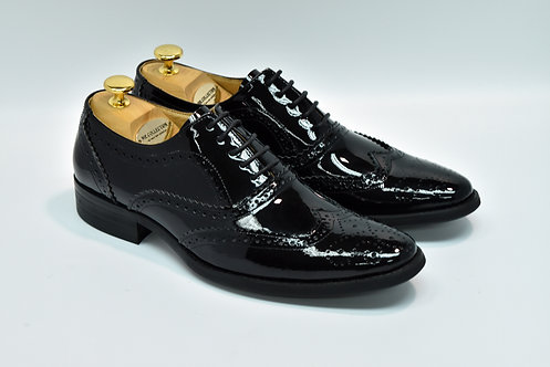 Black Patent Leather Brogue Oxford G04