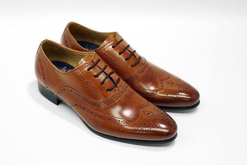 Ladies Brown Calf Leather Brogue Oxford LO05