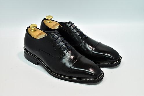 Black Calf Leather Cap-toe Oxford MB15