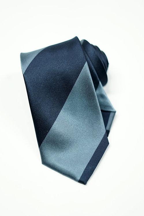 Navy & Light Blue Stipe SilkTie