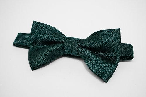 Dark Green Birds Eye Bow Tie
