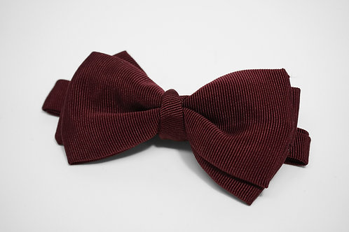 Dark Red Double Fold Bow Tie