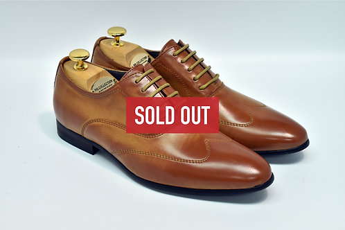 Brown Soft Leather Wingtip Oxford