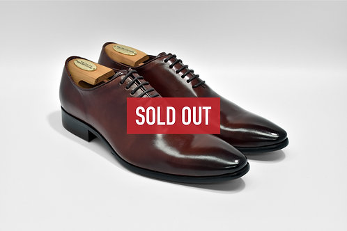 Maroon Calf Leather Whole-cut Oxford L0711
