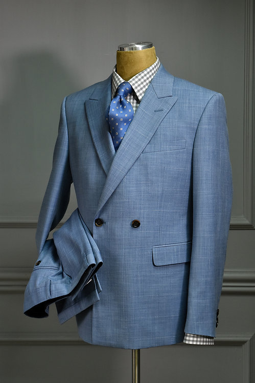 Light Blue Double Breasted Suit
