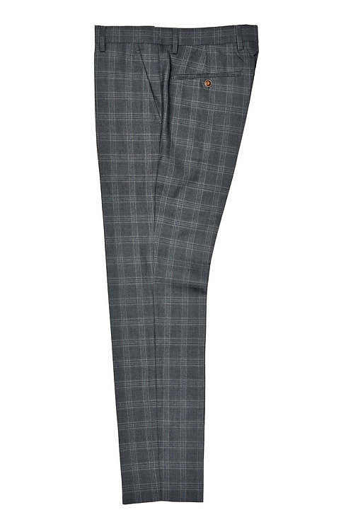 Grey Plaid Trousers T502