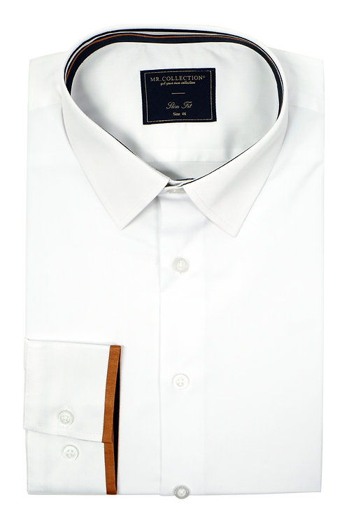 Tipping Cuff White Elastic Shirt QH01