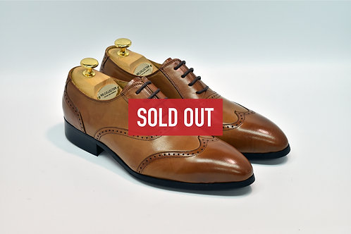 Brown Calf Leather Brogue Oxford