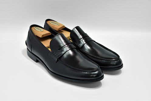 Black Calf Leather Penny Loafers  P05