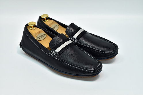 Unlined Black Soft Leather Loafers G88