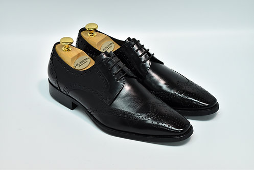 Black Calf Leather Brogue Derby J16