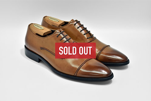 Brown Calf Leather Cap-toe Oxford