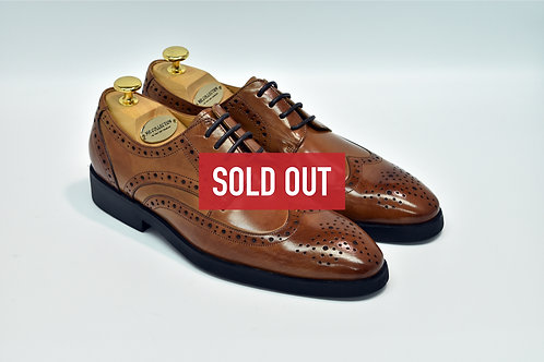 Brown Calf Leather Brogue Derby