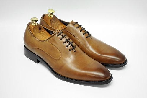 Brown Calf Leather Plain-toe Oxford