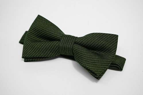 Dark Green Dot Stripe Bow Tie