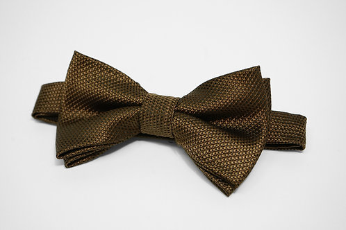 Khaki Birds Eye Bow Tie