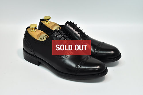 Black Calf Leather Cap-toe Oxford H10