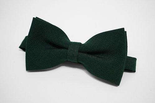 Dark Green Twill Bow Tie