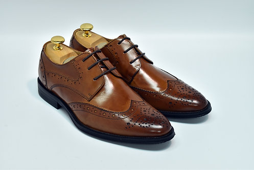 Brown Calf Leather Brogue Derby I16