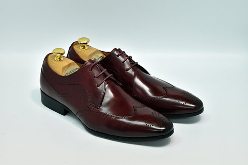 Maroon Calf Leather Brogue Derby I17