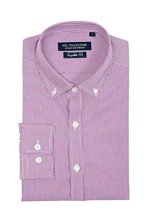 Pink Gingham Button-down Shirt