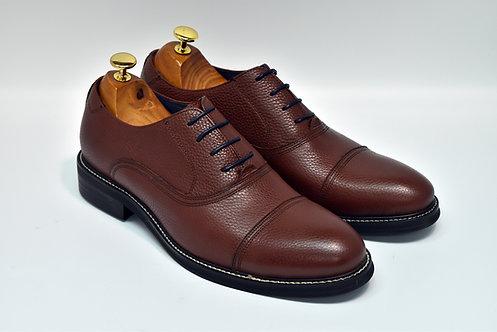 Maroon Grain Leather Cap-toe Derby M18/N12