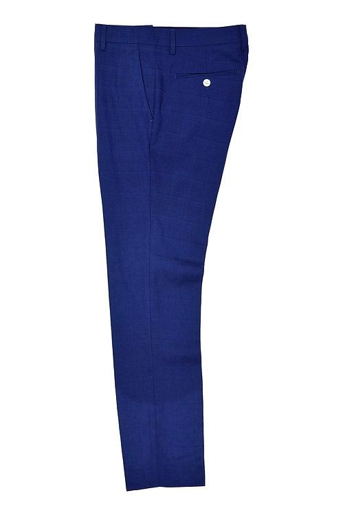 Blue Plaid Check Trousers T501