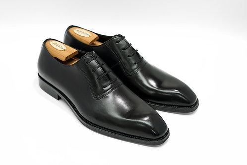Black Calf Leather Plain Chiseled Oxford T03