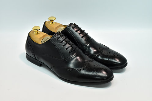 Black Calf Leather Brogue Oxford G11