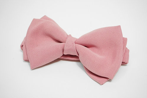 Pink Double Fold Bow Tie