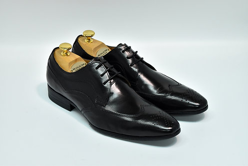 Black Calf Leather Brogue Derby I17