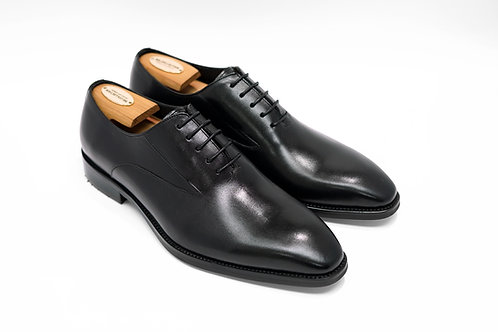 Black Calf Leather Wholecut Oxford T04