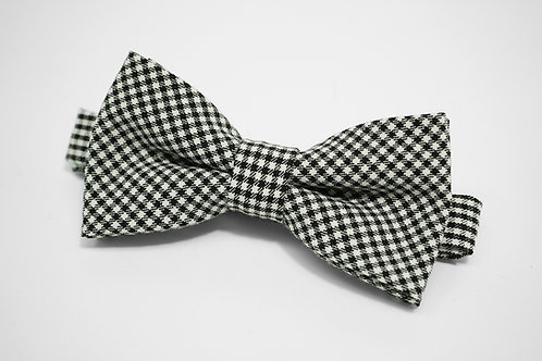 Black&White Buffalo Check Bow Tie
