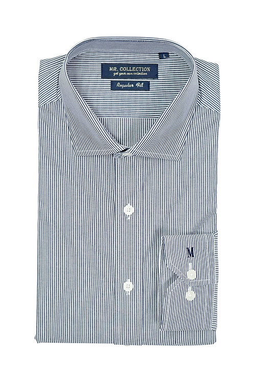 Grey Railroad Stripe Shirt