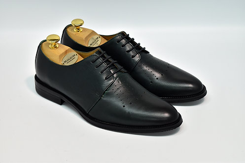 Dark Green Calf Leather Plain-toe Derby I19